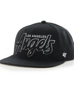 Los Angeles Angels Retroscript Blackout Black 47 Brand Adjustable Hat