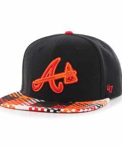 Atlanta Braves Ruffian Captain Black 47 Brand Adjustable Hat