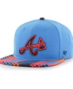 Atlanta Braves Ruffian Captain Glacier Blue 47 Brand Adjustable Hat