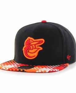 Baltimore Orioles Ruffian Captain Black 47 Brand Adjustable Hat