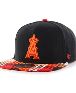 Los Angeles Angels Ruffian Captain Black 47 Brand Adjustable Hat