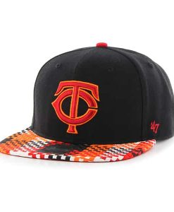 Minnesota Twins Ruffian Captain Black 47 Brand Adjustable Hat