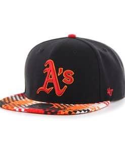 Oakland Athletics Ruffian Captain Black 47 Brand Adjustable Hat