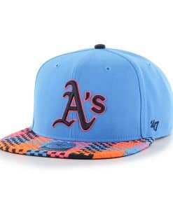 Oakland Athletics Ruffian Captain Glacier Blue 47 Brand Adjustable Hat