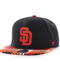San Diego Padres Ruffian Captain Black 47 Brand Adjustable Hat