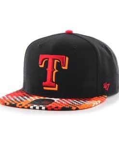 Texas Rangers Ruffian Captain Black 47 Brand Adjustable Hat