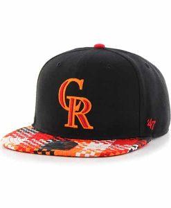 Colorado Rockies Ruffian Captain Black 47 Brand Adjustable Hat
