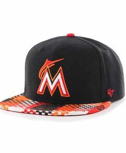 Miami Marlins Ruffian Captain Black 47 Brand Adjustable Hat