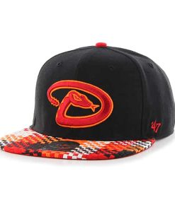 Arizona Diamondbacks Ruffian Captain Black 47 Brand Adjustable Hat