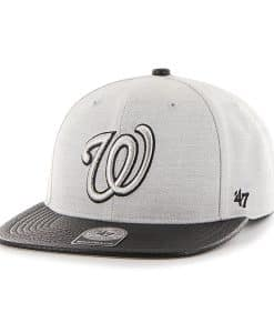 Washington Nationals Riverside Captain Gray 47 Brand YOUTH Hat