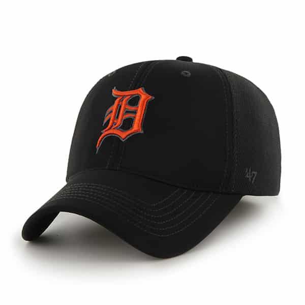 Detroit Tigers Reversal Closer Black 47 Brand Stretch Fit Hat