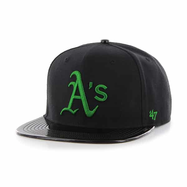 Oakland Athletics Shinedown Captain Black 47 Brand Adjustable Hat