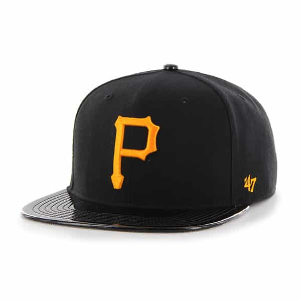 Pittsburgh Pirates Shinedown Captain Black 47 Brand Adjustable Hat