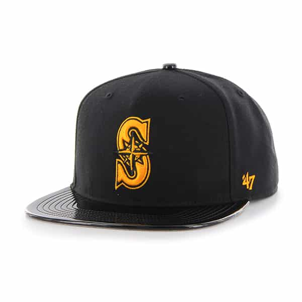 Seattle Mariners Shinedown Captain Black 47 Brand Adjustable Hat