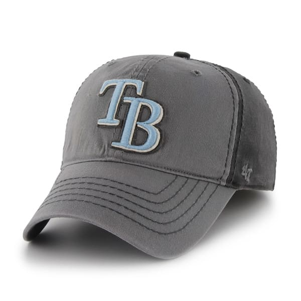 Tampa Bay Rays Saluki Dark Charcoal 47 Brand Stretch Fit Hat
