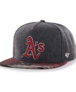 Oakland Athletics Santa Fe '47 Captain Dt Charcoal 47 Brand Adjustable Hat
