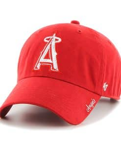 Los Angeles Angels Sparkle Team Color Clean Up Red 47 Brand Womens Hat