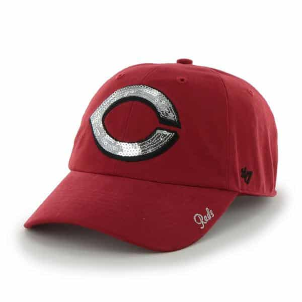 Cincinnati Reds Sparkle Team Color Clean Up Red 47 Brand Womens Hat