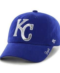 Kansas City Royals Sparkle Team Color Clean Up Royal 47 Brand Womens Hat
