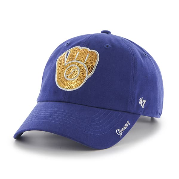 Milwaukee Brewers Sparkle Team Color Clean Up Royal 47 Brand Womens Hat
