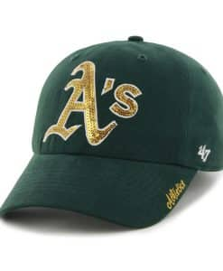 Oakland Athletics Sparkle Team Color Clean Up Dark Green 47 Brand Womens Hat