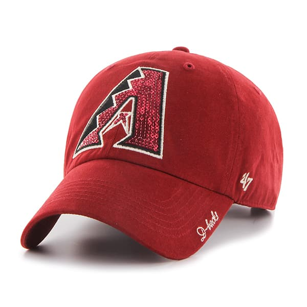 Arizona Diamondbacks Sparkle Team Color Clean Up Razor Red 47 Brand Womens Hat