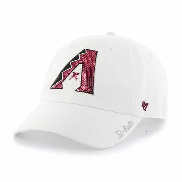 Arizona Diamondbacks Sparkle Team Color Clean Up White 47 Brand Womens Hat