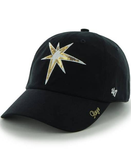 Tampa Bay Rays Sparkle Team Color Clean Up Navy 47 Brand Womens Hat
