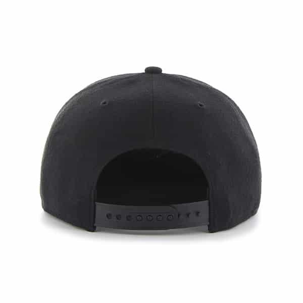 da747007 Atlanta Braves Sure Shot Black 47 Brand Adjustable Hat - Detroit Game Gear