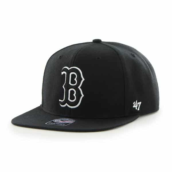 Boston Red Sox Sure Shot Black 47 Brand Adjustable Hat