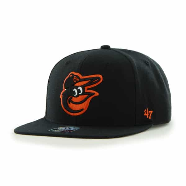 Baltimore Orioles Sure Shot Black 47 Brand Adjustable Hat