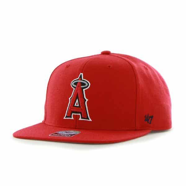 Los Angeles Angels Sure Shot Red 47 Brand Adjustable Hat
