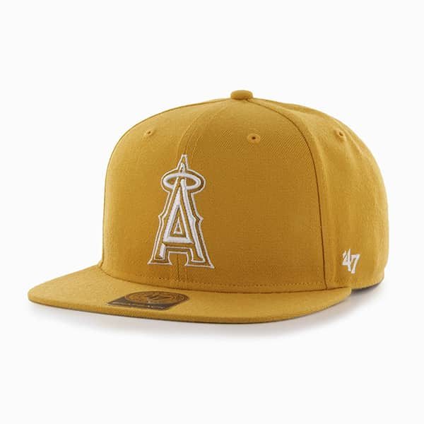 Los Angeles Angels Sure Shot Wheat 47 Brand Adjustable Hat