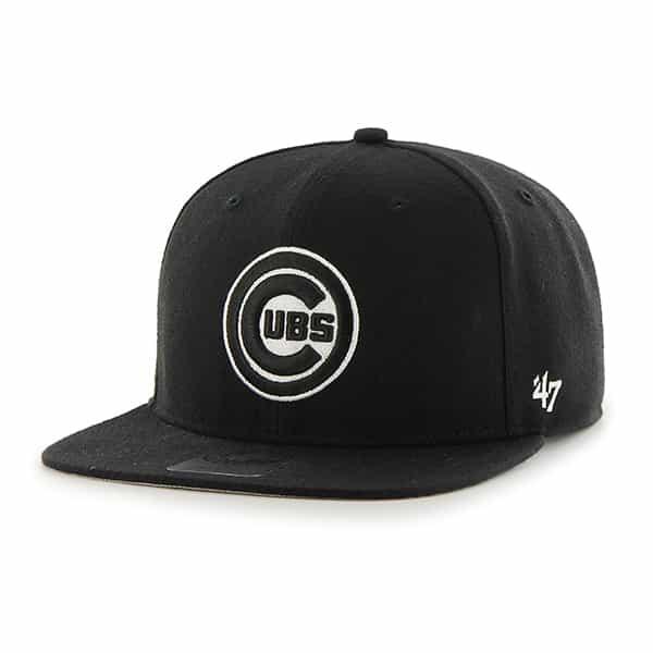 Chicago Cubs Sure Shot Black 47 Brand Adjustable Hat
