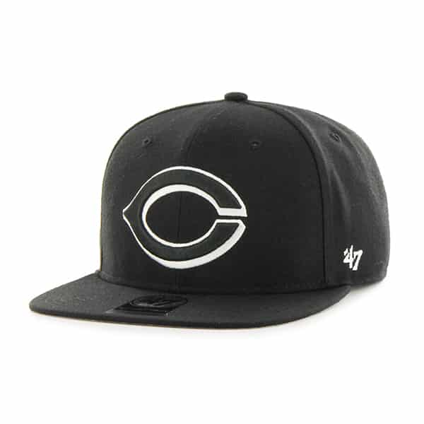 Cincinnati Reds Sure Shot Black 47 Brand Adjustable Hat