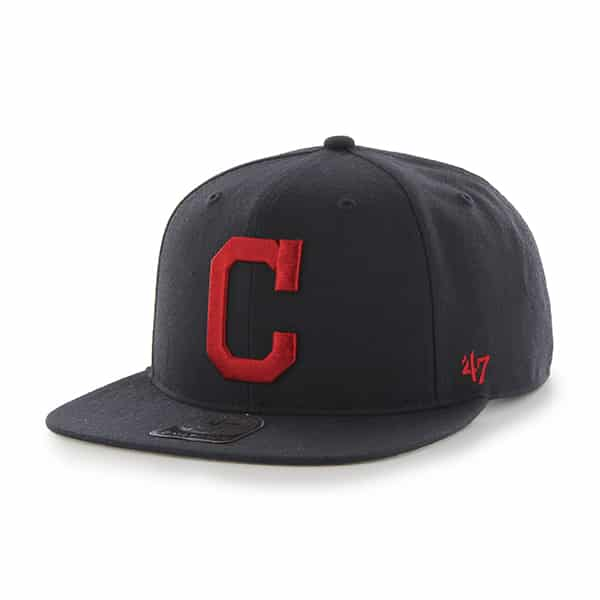 Cleveland Indians Sure Shot Navy 47 Brand Adjustable Hat