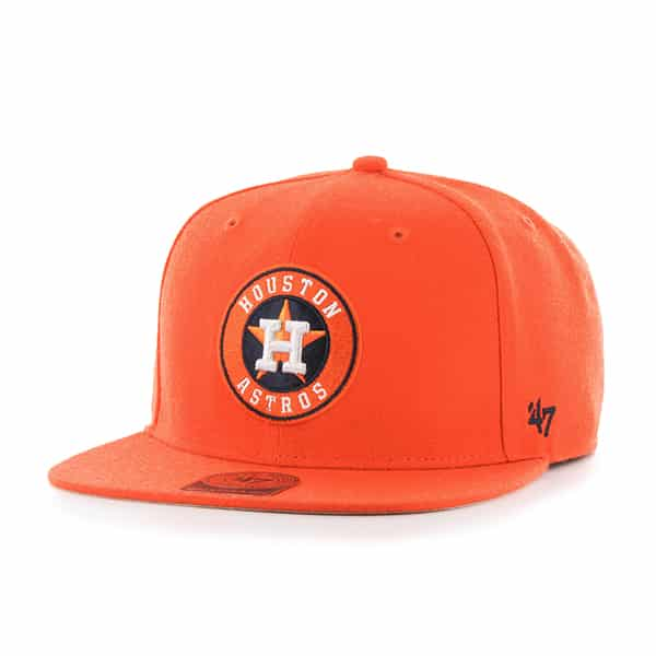 Houston Astros Sure Shot Orange 47 Brand Adjustable Hat