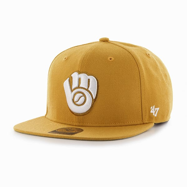 Milwaukee Brewers Sure Shot Wheat 47 Brand Adjustable Hat
