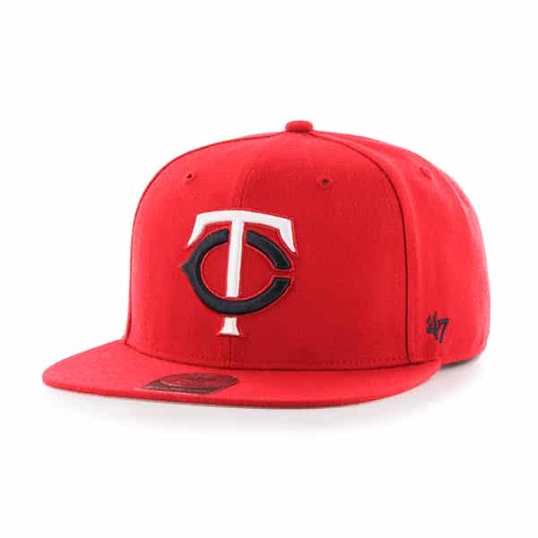 Minnesota Twins Sure Shot Red 47 Brand Adjustable Hat