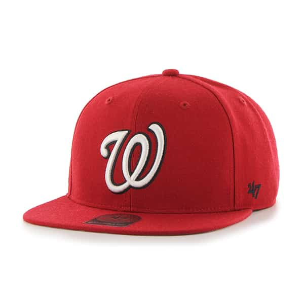 Washington Nationals Sure Shot Red 47 Brand Adjustable Hat