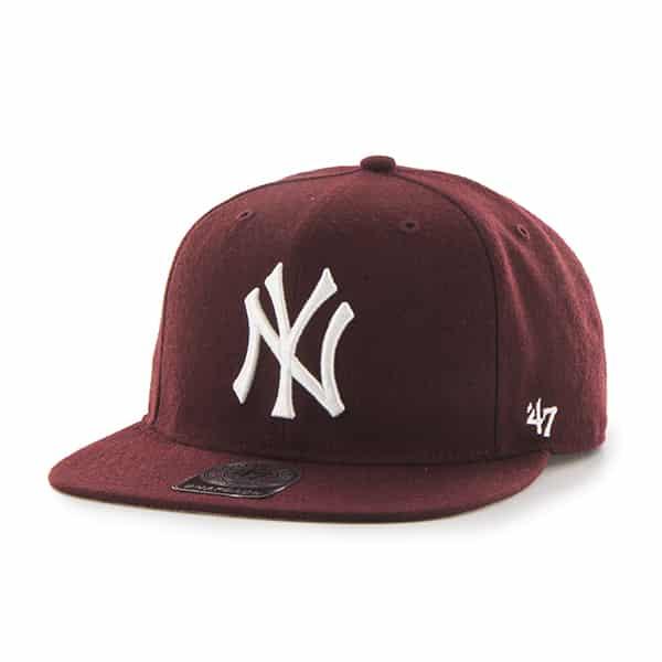 New York Yankees Sure Shot Dark Maroon 47 Brand Adjustable Hat