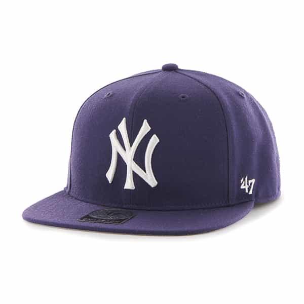 New York Yankees Sure Shot Purple 47 Brand Adjustable Hat