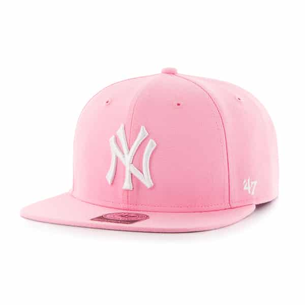 7321a3c18f New York Yankees Sure Shot Pink Rose 47 Brand Adjustable Hat - Detroit Game  Gear