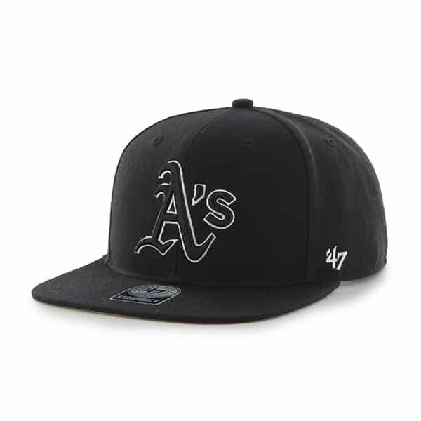 Oakland Athletics Sure Shot Black 47 Brand Adjustable Hat