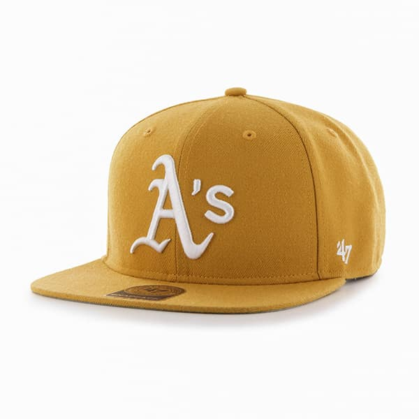 Oakland Athletics Sure Shot Wheat 47 Brand Adjustable Hat