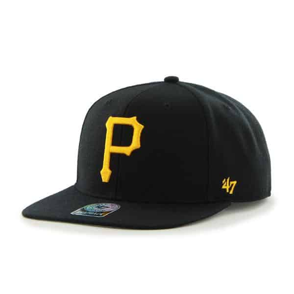 Pittsburgh Pirates Sure Shot Black 47 Brand Adjustable Hat