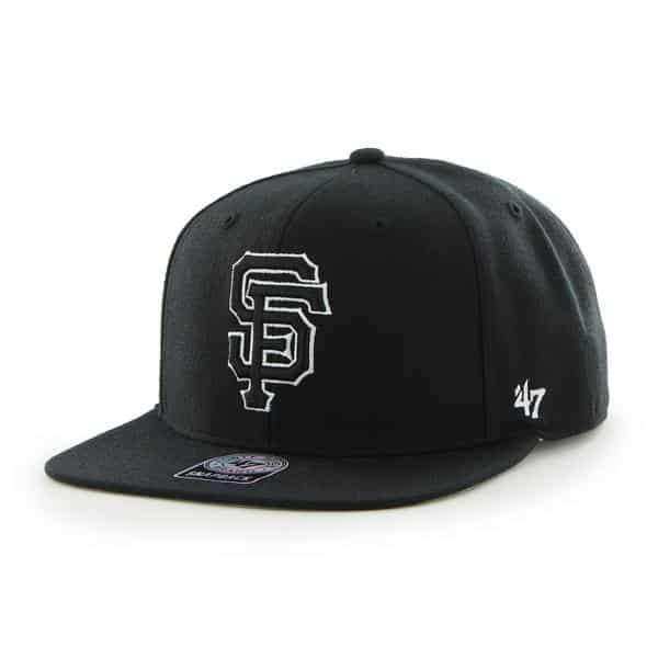San Francisco Giants Sure Shot Black 47 Brand Adjustable Hat