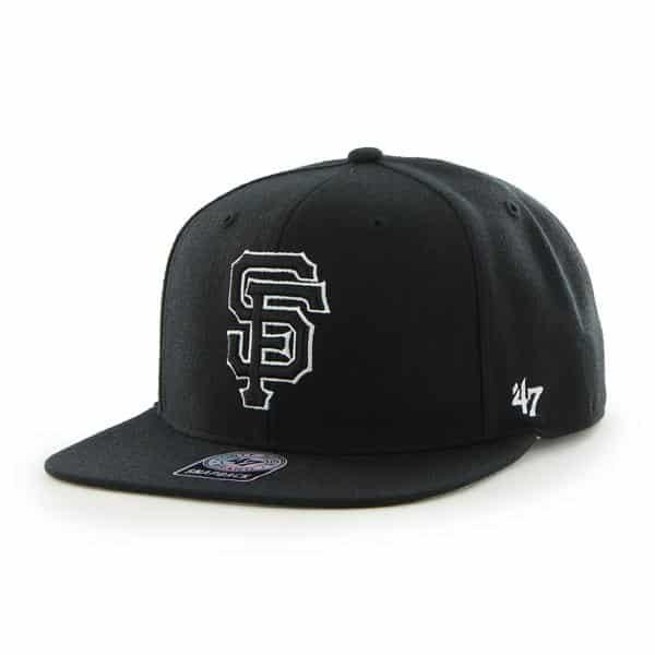 San Francisco Giants Sure Shot Black 47 Brand Adjustable Hat