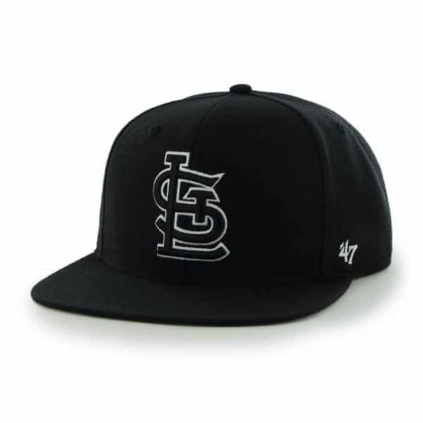 St. Louis Cardinals Sure Shot Black 47 Brand Adjustable Hat