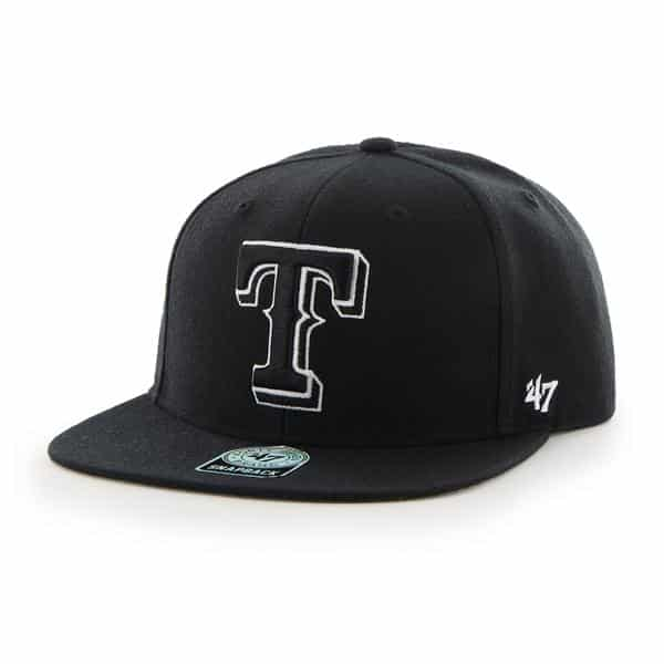 Texas Rangers Sure Shot Black 47 Brand Adjustable Hat